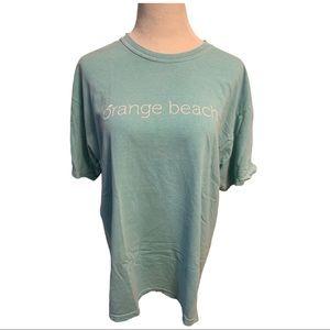 Orange Beach Green 100% Cotton T-Shirt XL